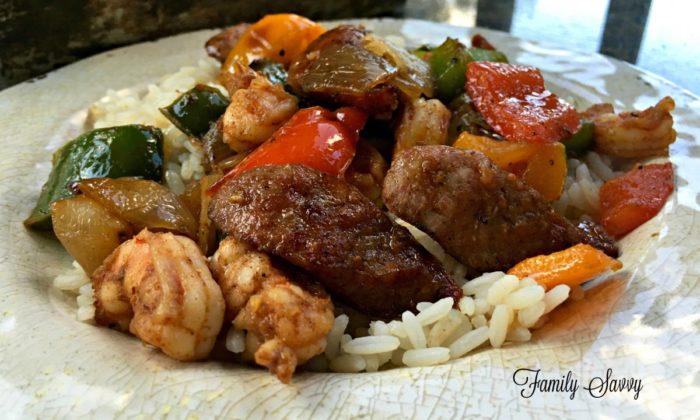 Cajun Shrimp & Sausage Paleo Skillet Meal
