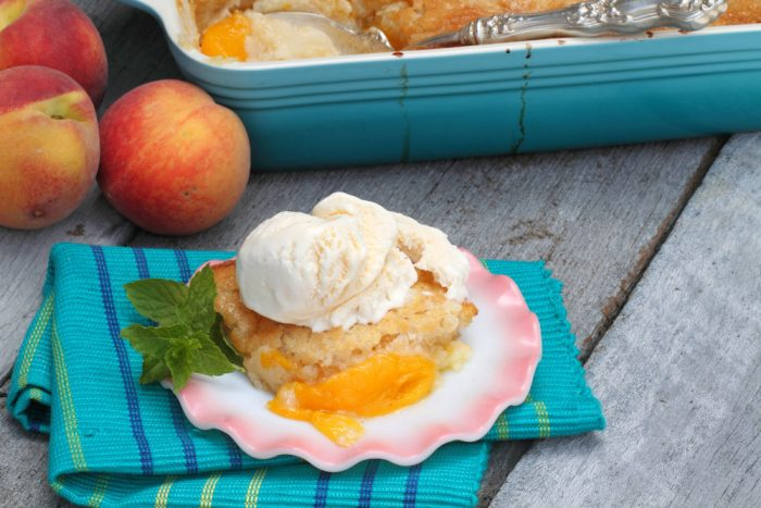 fresh peach cobbler southern style