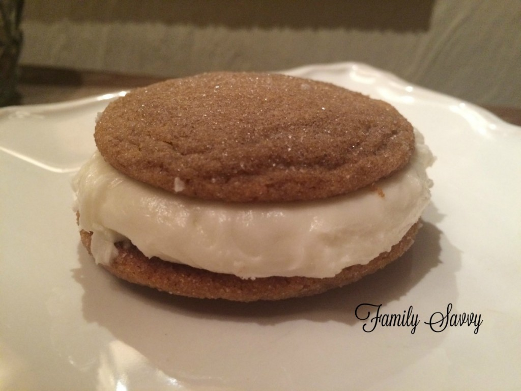 ginger cookies with buttercream filling