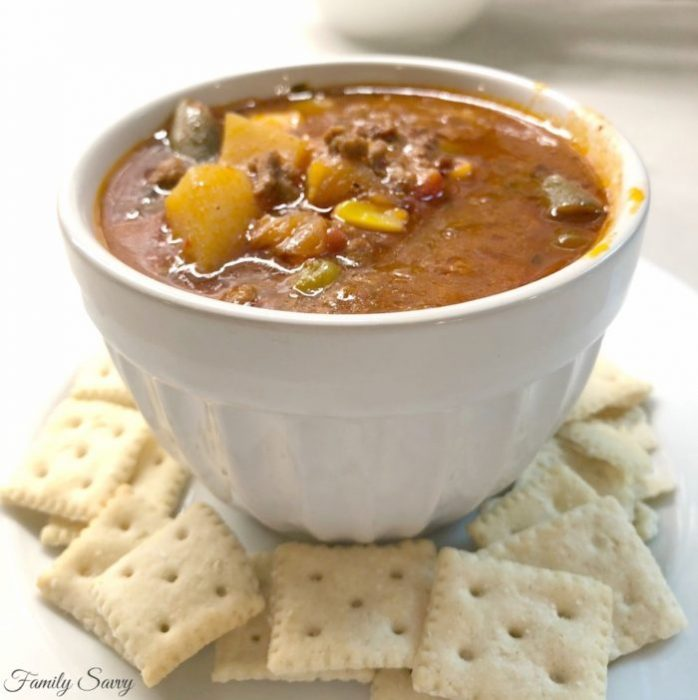 spicy hamburger vegetable soup