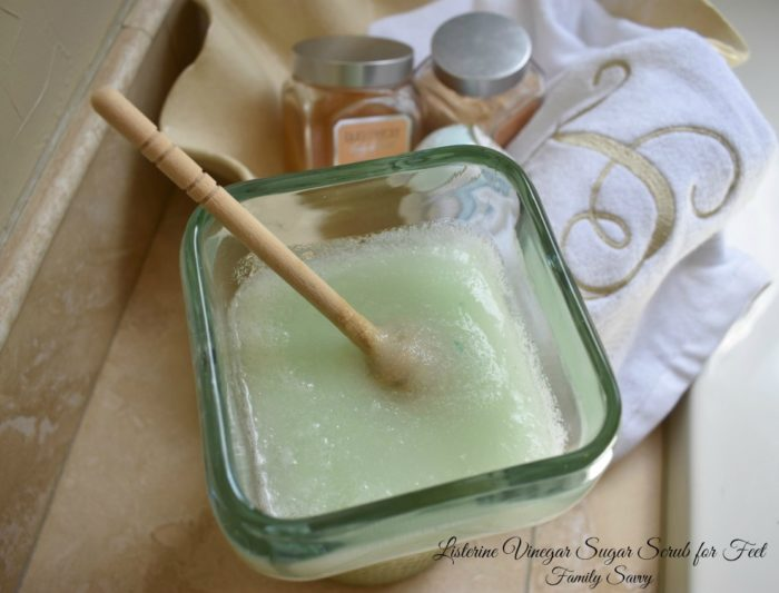 Listerine Vinegar Sugar Scrub For Feet