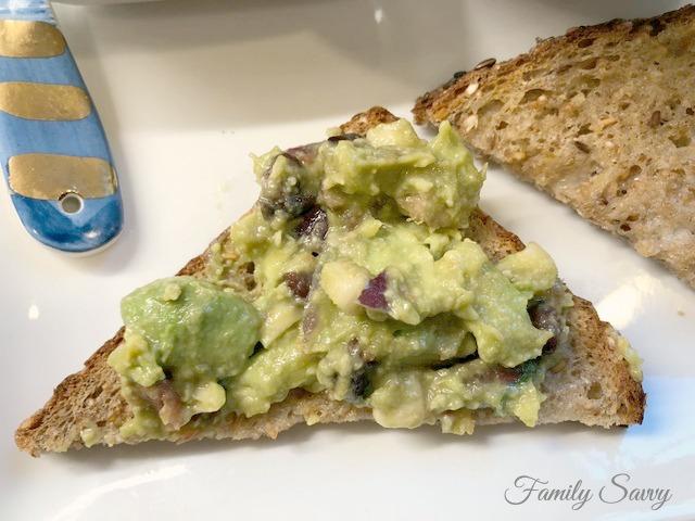 avocado toast on Dave's Killer Bread