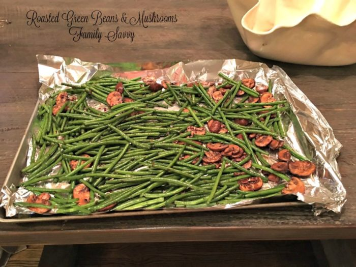 Roasted Green Beans & Mushrooms