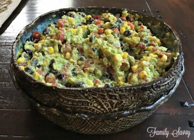 Jim's corn & black bean guacamole