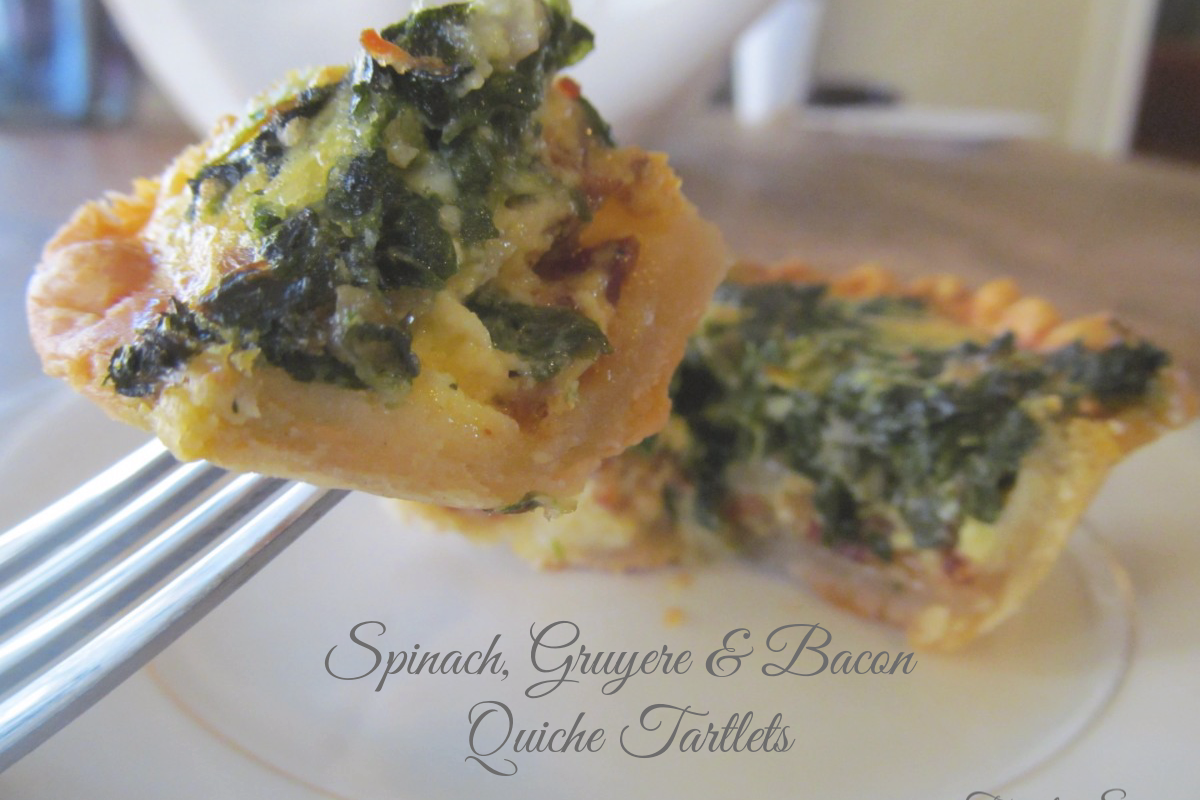 Spinach, Gruyere & Bacon Quiche Tartlets