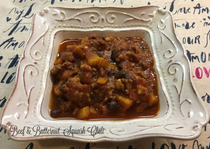 Beef & Butternut Squash Chili