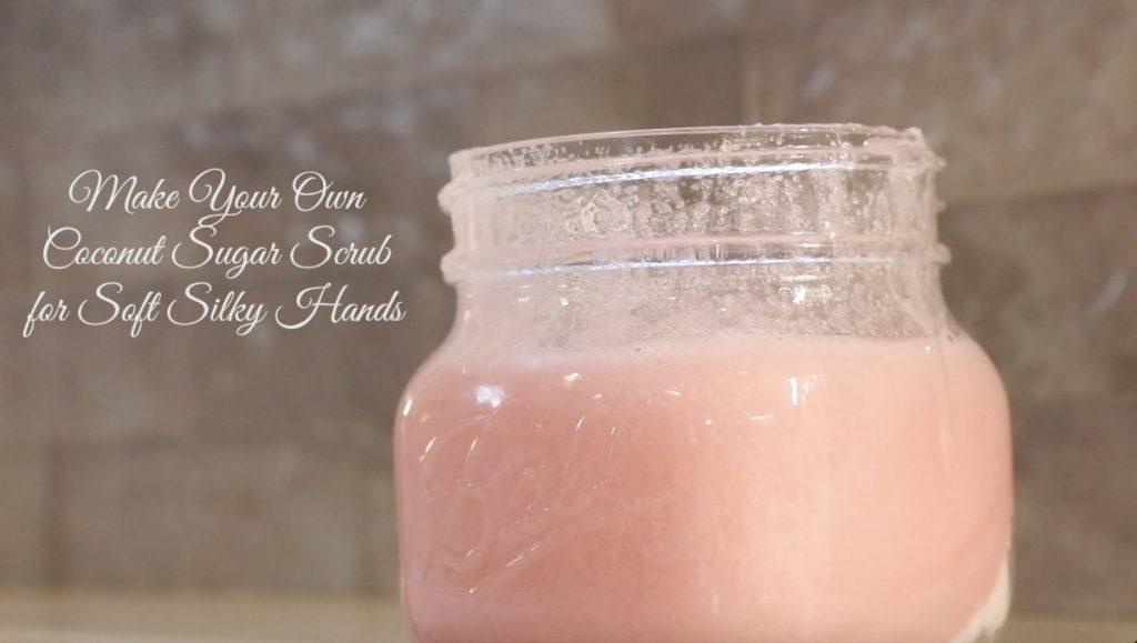 "Make Your Own Coconut Sugar Scrub for Soft Silky Hands"" description=""3-ingredient sugar scrub recipe for soft kitchen hands""]"
