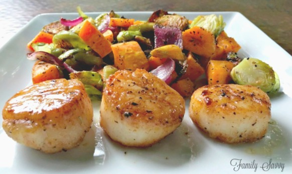 pan seared lemon butter scallops
