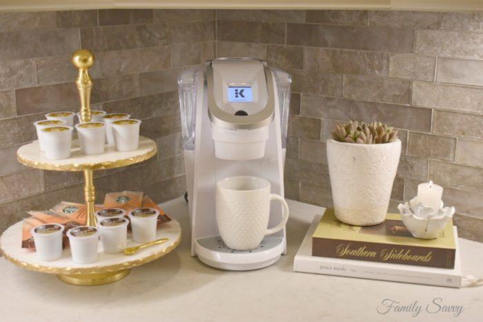 coffee station vignette ideas