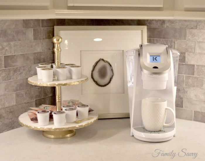 coffee station vignette ideas