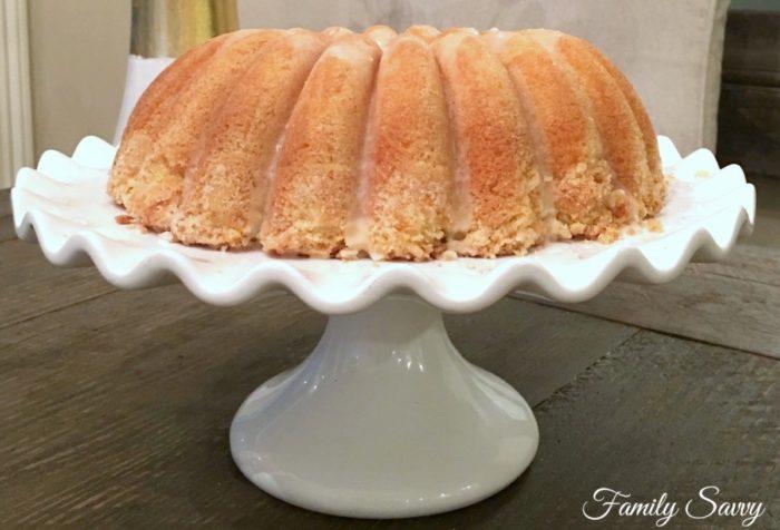coconut bundt cake with lime glaze