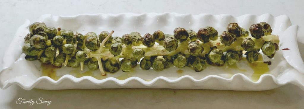 roasted Brussel sprouts stalk