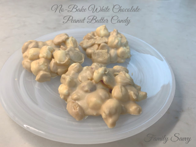 No-Bake White Chocolate Peanut Butter Candy.