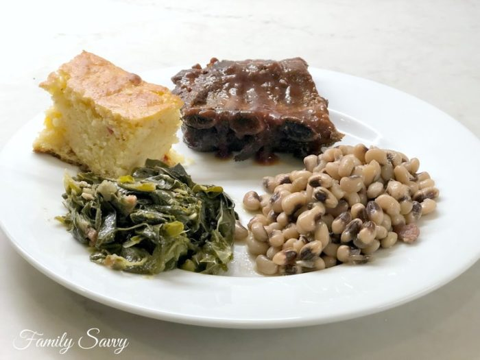 New Year's Day Menu Made Easy: My Recipes for Peas, Greens, Cornbread and Ribs