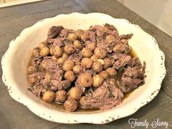 Greek Slow Roasted Leg of Lamb With Potatoes