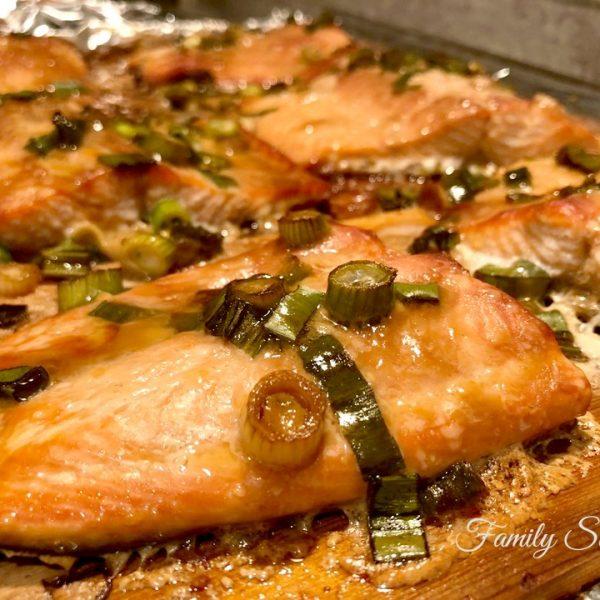 Asian Cedar Planked Salmon