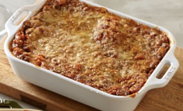 Baked Spaghetti Pie With Four Cheeses
