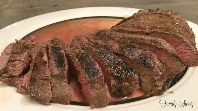 flatiron steak in world's best marinade