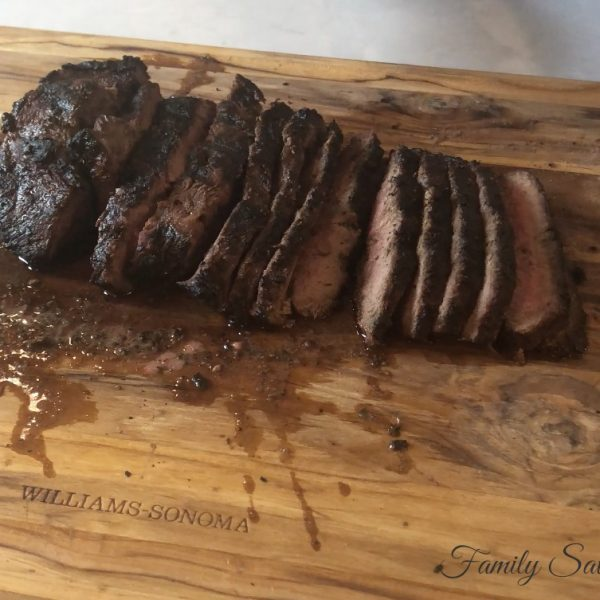 "Flatiron Steak in ""World's Best Marinade"""