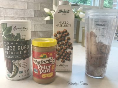 Get Up and GOGO Chocolate Energy Smoothie