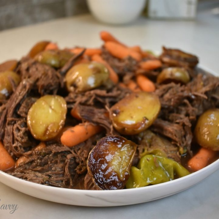 Instant Pot Mississippi Pot Roast with Crispy Dales Potatoes