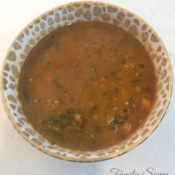 Mediterranean Lentil Soup {Instant Pot or Stovetop}