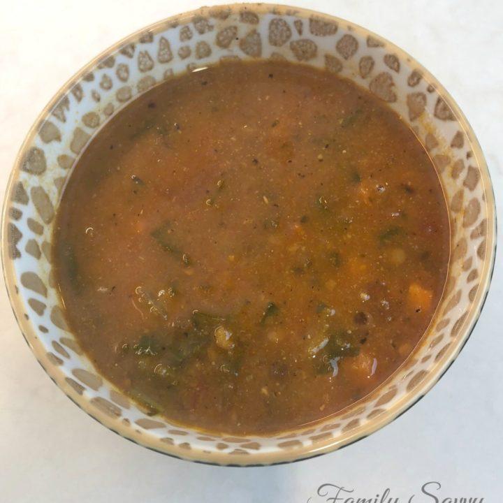 easy tomato lentil soup