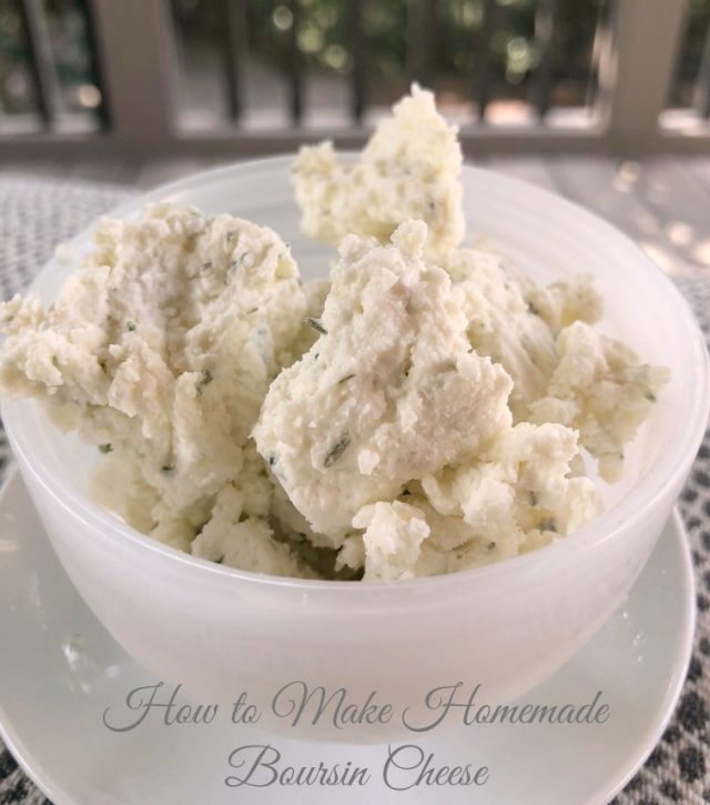 How to Make Homemade Boursin Cheese