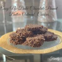 Easy No-Bake Chocolate Peanut Butter Oatmeal Cookies