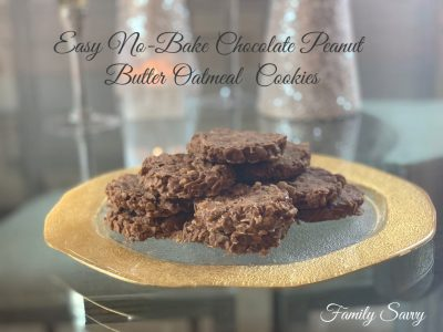 Easy No-Bake Chocolate Peanut Butter Oatmeal Cookies