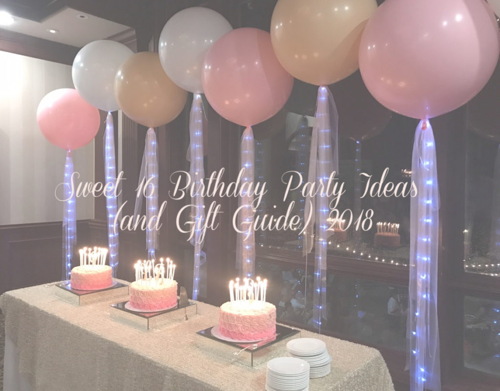 SWEET 16 BIRTHDAY PARTY IDEAS (AND GIFT GUIDE) 2018