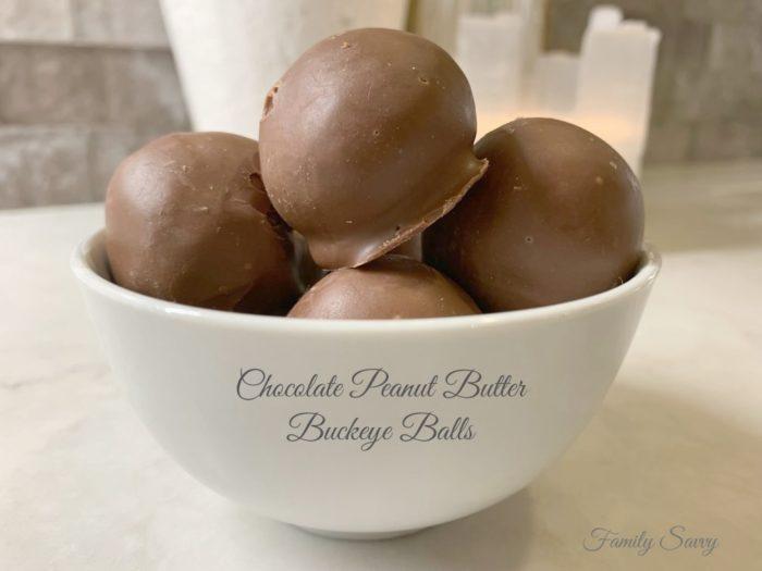 Chocolate Peanut Butter Buckeye Balls