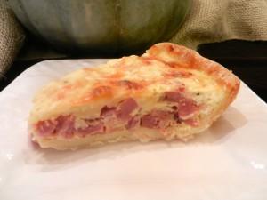 Easy Ham & Gruyer Quiche