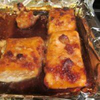 Miso-Sesame Glazed Salmon