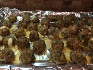 Mozarella Stuffed Meatballs