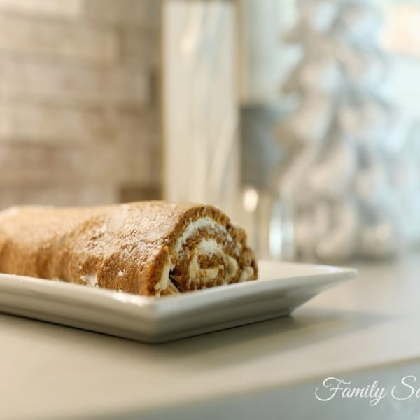 Fancy (But Easy) Pumpkin Roulade With Cream Cheese Filling