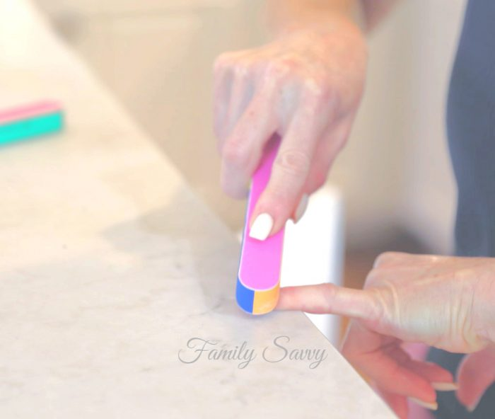 remove SNS gel nails easily at home