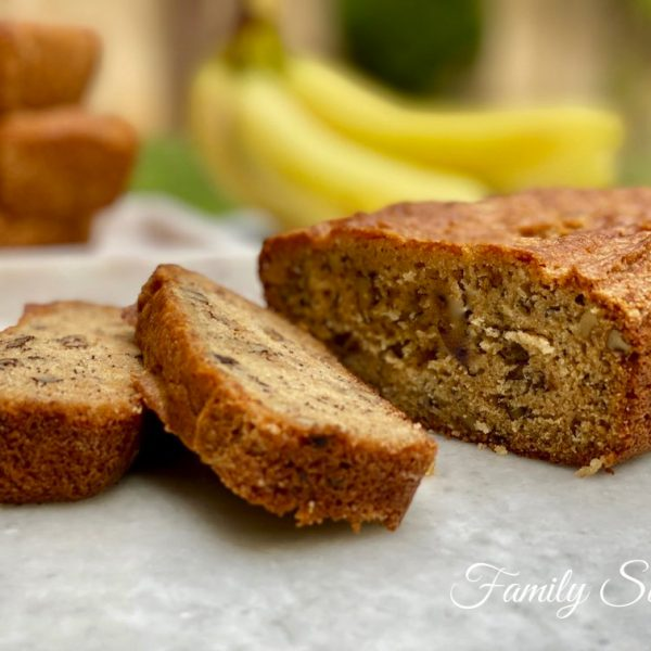 The Best Banana Nut Bread Recipe Ever: Recipe + Video
