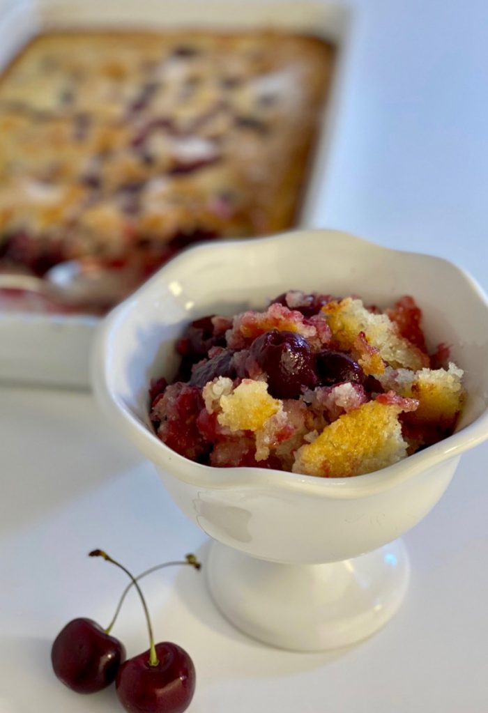 the best cherry cobbler with buttermilk