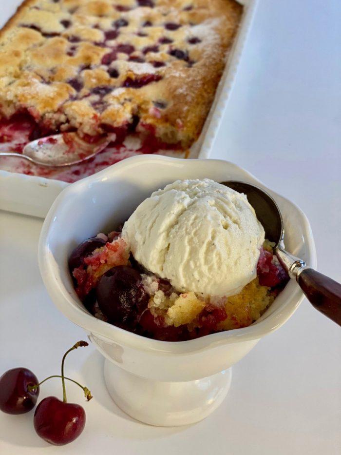 the best cherry cobbler with buttermilk