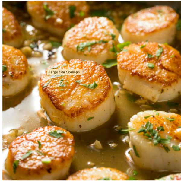 How to make perfect pan-seared scallops with a buttery sauce.