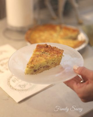 cheese & holiday ham quiche